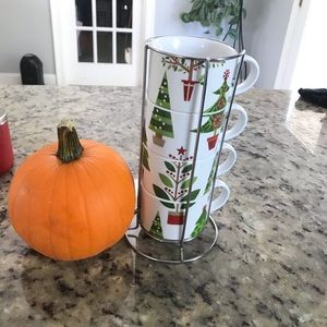 PIER 1 Imports Christmas Morning Stackable Mugs